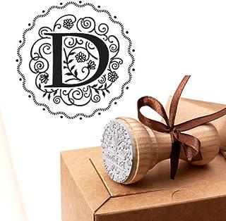 Timbro Lettera D Iniziali Timbri Lettere Alfabeto Monogramma D Idee Regalo Aziendale