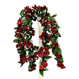 26″ Hanging Hibiscus Bush Artificial Silk Flowers Wedding Arch Centerpiece Vines