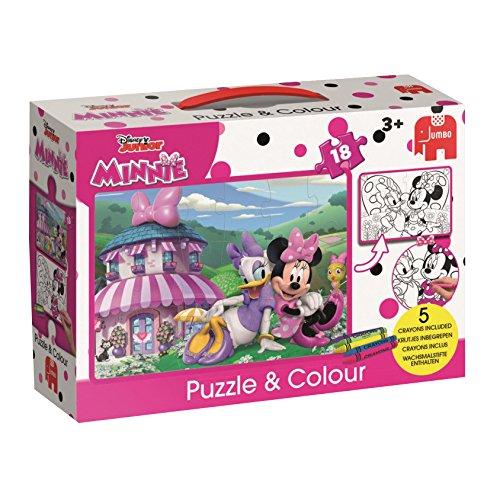 Jumbo 19670 Micky Maus und Freunde Puzzle Disney Minnie's Happy Helpers 18 Teile