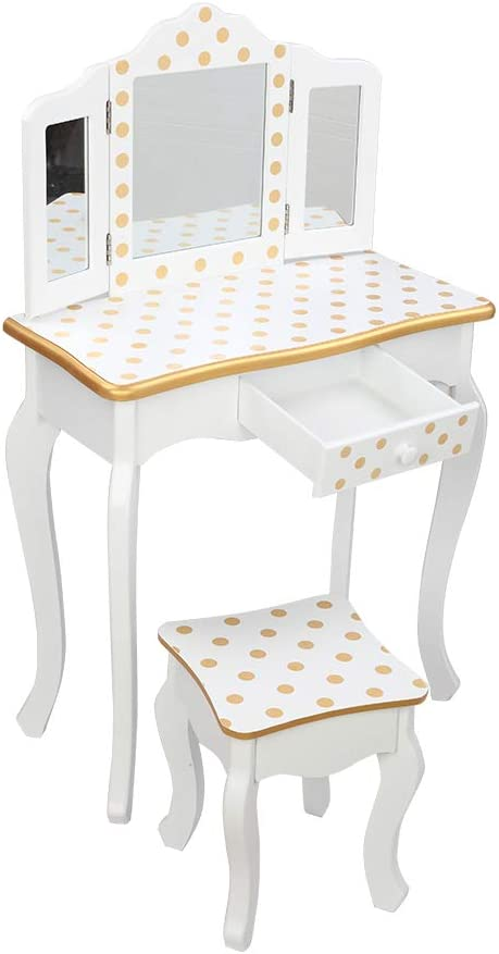 FRITHJILL Kids Vanity Table Chair and 5% Mail order OFF Dre Set,Makeup