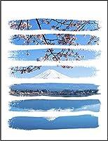 【FOX REPUBLIC】【桜と富士山】 白マット紙(フレーム無し)A2サイズ