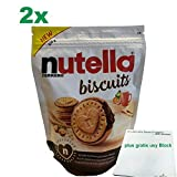 nutella biscuits 2er Pack (2x304g Beutel) plus usy Block