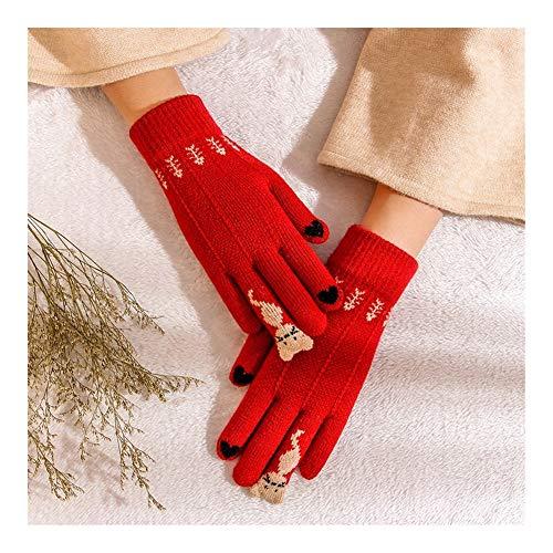 Unda118 Mode Frauen Handschuhe Winter gestrickte Screen-Handschuhe Warm Five Finger Handgelenk Handschuhe Rosa Fahren Handschuhe Bequeme romantische Handschuhe