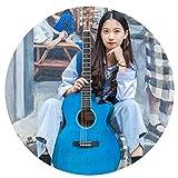 YJFENG-Guitare Acoustique Cordes Légères en épicéa De 41 Pouces pour Jouer De La Guitare Acoustique (Color : Blue, Size : 104x40cm)