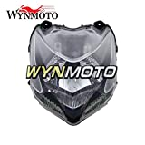 WYNMOTO Motorcycle Head Light Lamp Assembly For Ducati 848 streetfighter Year 2009 2010 2011 2012 New After-Market Moto Headlamp Front Headlight Housing Clear