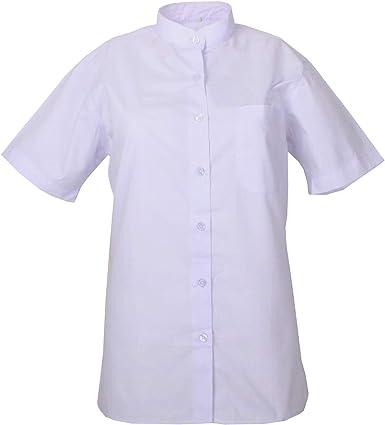 MISEMIYA - Camisa Cuello Mao Uniforme Camarera Mujer MESERO DEPENDIENTA Barman COCTELERA PROMOTRORAS Blusa - Ref.8271B