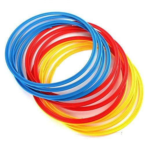MAYOKIAAR Agility Hoops - Anillos de plástico para entrenamiento de velocidad, 12 x 16 pulgadas, multicolor para niños, adolescentes, fútbol, resistencia y tonificación, equipo de entrenamiento