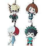 Templom SIX My Hero Academia (Boku no Hero Academia) Figura colgante de muñeca de metal llavero de anime japonés, 4 unidades.