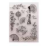 Fogun Tampons Clairs Transparents Scrapbooking Stamp En Silicone Pour DIY Loisirs Créatifs Décoration Cadeau Noel Enfant