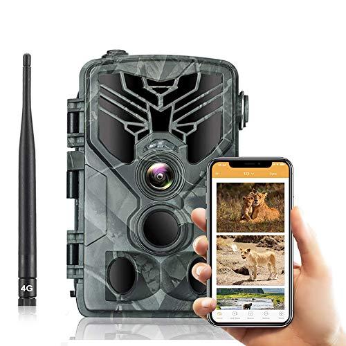 SUNTEKCAM 4G Caméra de Chasse 20MP 1080P Transmission réseau cellulaire Caméra de Surveillance Étanche 36 LEDs Caméra De Jeu avec Détecteur de Mouvement Vision Nocturne Infrarouge IP66 Etanche