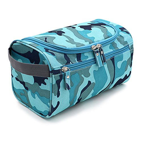IGNPION Men's Hanging Travel Toiletry Wash Bag (Camouflage)