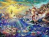 HzzTop Puzzle para Adultos 1000 Piezas, La Colección Disney Puzzle La Sirenita, Puzzle De Madera, 75X50Cm, Amigos