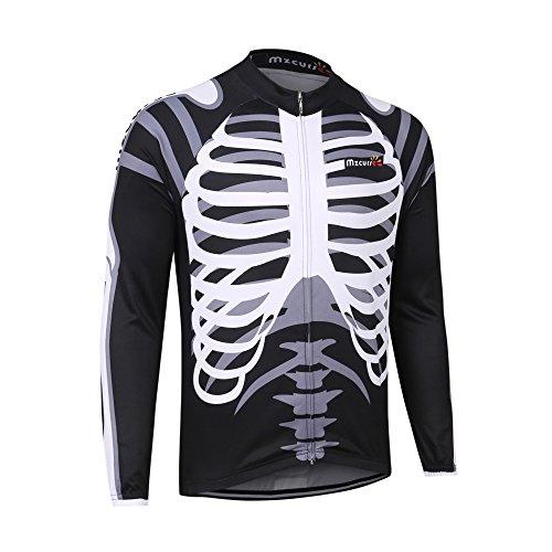 mzcurse Herren Langarm Fahrrad Trikot Shirt Outdoor Mantel Reiten Windjacke, Herren, skelett, Medium,please check the size chart