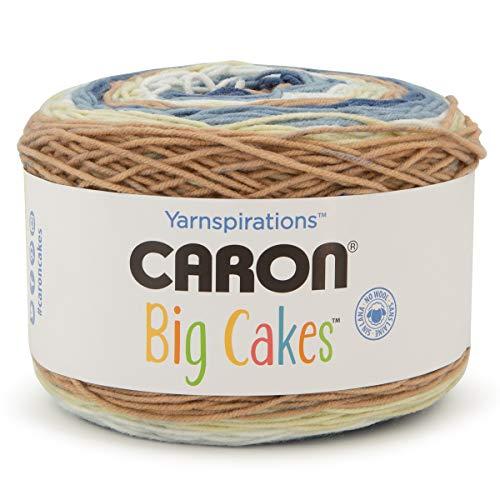 Caron Big Cakes Self Striping Yarn ~ 603 yd/551 m / 10.5oz/300 g Each (Blueberry Scone)
