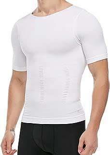 Men's Compression Shirt Undershirt Slimming Tank Top Workout Vest Abs Abdomen Slim Body Shaper
