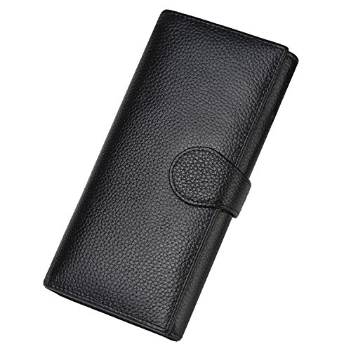 Lavemi RFID Blocking Large Capacity Luxury Leather Clutch Wallets Credit Card Holder for...