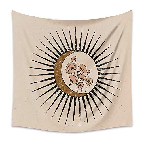 KHKJ Tapiz de Luna Retro Mandala Tarot Card Tapiz de Pared Boho Mountain Tapices para Colgar en la Pared Dormitorio Dormitorio Roomn Decoración de Pared A12 200x180cm