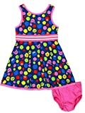 Isaac Mizrahi Loves Sesame Street Elmo Baby Toddler Fit and Flare Soft Dress (12 Months, Baby Multicolor)