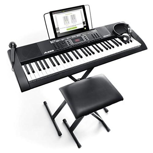 Alesis Melody 61 MKII - Tastiera Musicale Portatile - Pianola con Cuffie, Microfono, Casse Integrate, Stand, Leggio, Sgabello e 61 Tasti
