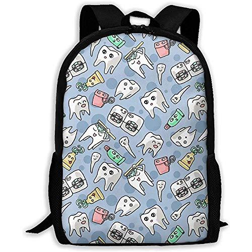 Niedliche Zahnpasta Zähne Laptop Bookbag, Business Bag Travel, wasserdichte Anti-Diebstahl-College-Schultasche