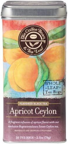 The Coffee Bean Tea Leaf Tea Hand Picked Apricot Ceylon Tea 20 ct Tin product image