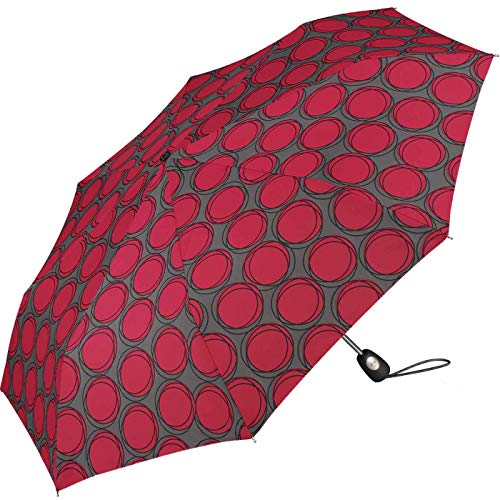 Pierre Cardin Taschenschirm Easymatic Light Dots & Circles Rasperry