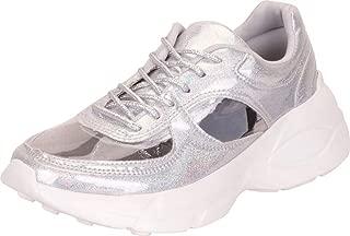 Cambridge Select Women's Retro 90s Ugly Dad See-Through Cutout Chunky Platform Fashion Sneaker