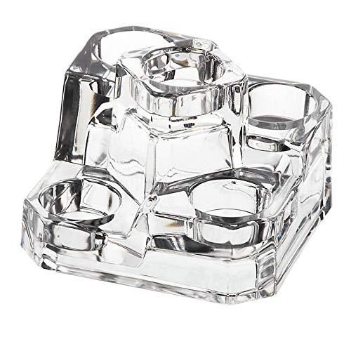 CRISTALICA Teelichthalter 5er Kerzenhalter Lucio Glas Bleikristall Höhe 10 cm transparent