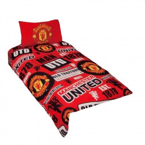 Manchester United FC. Single Reversible Duvet Set