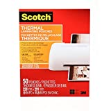Scotch Thermal Laminating Pouches, 8.97 x 11.45-Inch (Per Pouch), 5-Mil Thickness, 50 Pouches