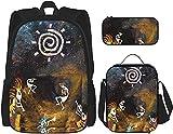 Southwest Native American Kokopelli Sun Backpack Bookbags Set con bolsa de almuerzo estuche de viaje