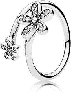 Dazzling Daisies Silver Size 8.5 Ring 191038CZ58
