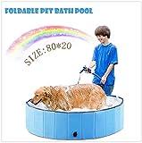 New-wish Outdoor Bathing Dog Pool Portable per Vasca da...