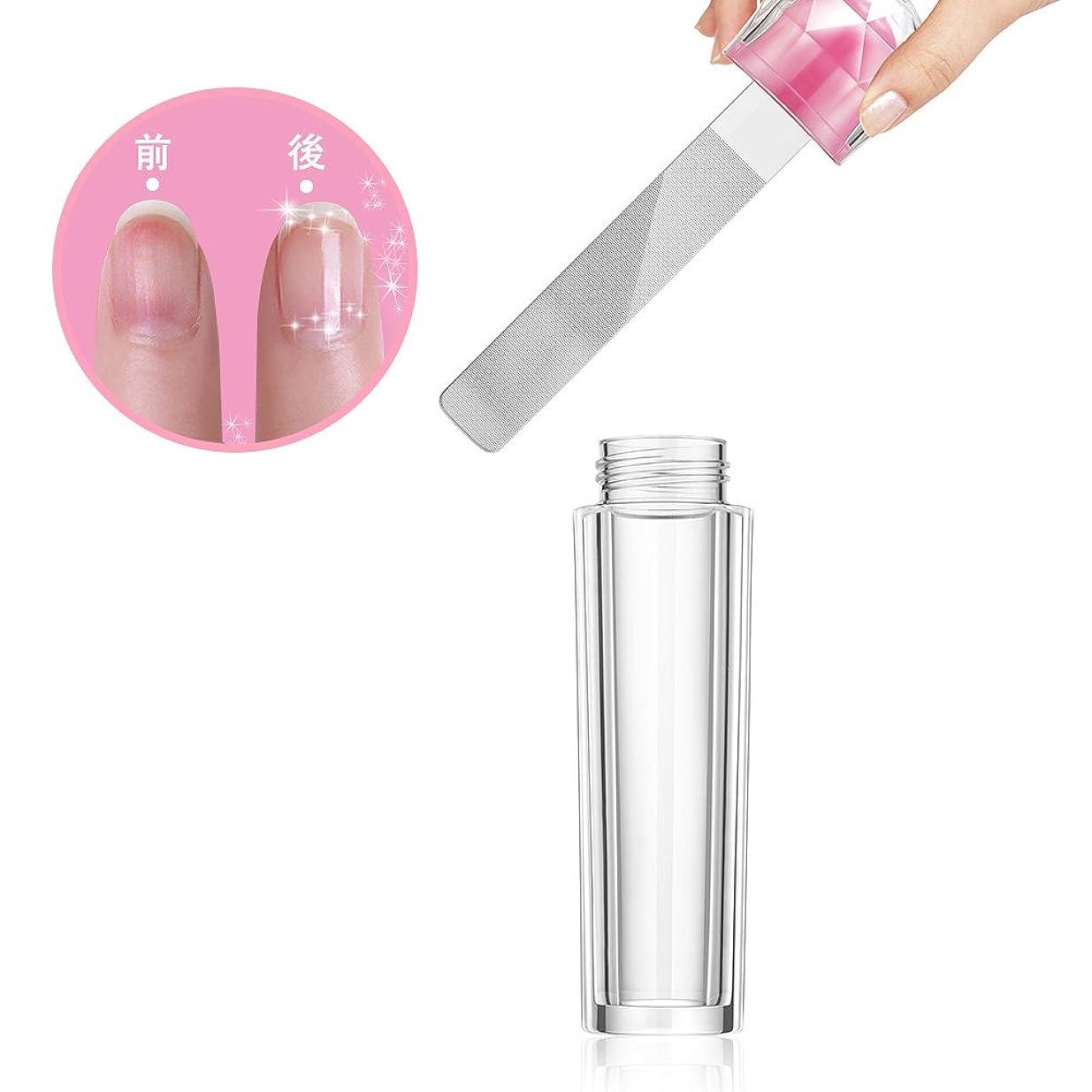 モナリザ意見境界ガラス製 爪やすり 爪磨き ネイルケア ケース付き ネイルシャイナー ネイルケア (1個) (1個)