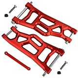 Aluminum Front Control A Arms for Traxxas 2WD 1/10 Slash Rustler Stampede Raptor Upgrade 3631 2532, Red