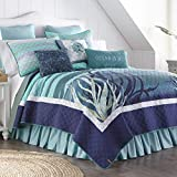 King Bedding Set - 3 Piece - Summer Surf by Donna Sharp - Coastal Quilt Set with King Quilt and Two Standard Pillow Shams - Machine Washable