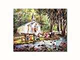 African American Black Baptism by Church Christian Wall Picture 8x10 Art Print