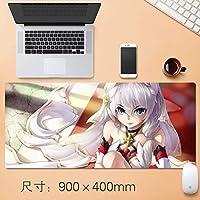 クリエイティブ日本アニメHonkaiインパクト3マウスパッドマウスマットで縫製エッジ滑り止めラバーベースノートパソコンとPCの90 * 40センチメートル防水ホームオフィスオタクアニメファンのギフト用の大型マウスパッド (サイズ: 3mm)