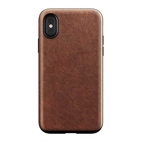 Nomad Rugged Case for iPhone X | Rustic Brown Horween Leather