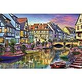 DX Colmar Canal Art Puzzle 500/1000/1500/2000/3000/4000/5000/6000 Pcs, Rompecabezas de Madera Decoración del hogar, Juguetes educativos Juegos para Adultos y niños