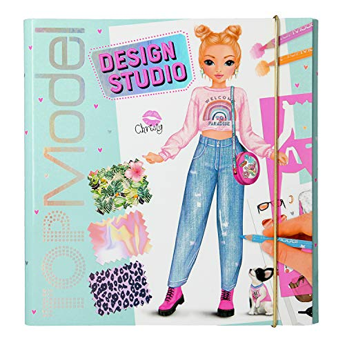 Depesche 11251 Malbuch, Create your TOPModel Design Studio, ca. 26 x 25 x 2,5 cm