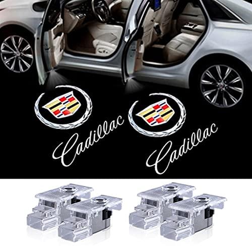 4 Pack Cadillac Car Door Logo Light Emblem Projector Ghost Shadow LED Welcome Light for ATS SRX XTS XT4 XT5 XT6 Cadillac Accessorie