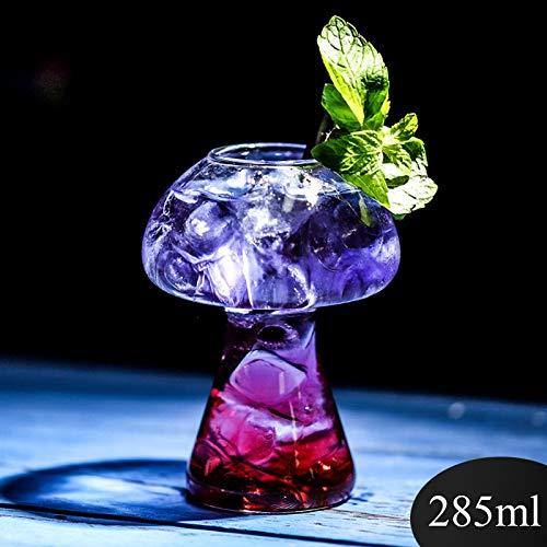 Neuer Netto-kreatives roter Pilz Cup Cocktail Cup Molekular Gourmet Bar besondere Weinschale Persönlichkeit Glas (Color : 1)