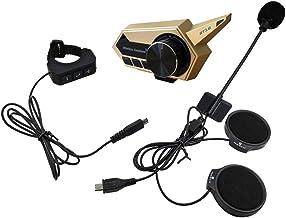 Andoer Fone de ouvido para capacete de motocicleta Fone de ouvido sem fio Bluetooth 5.0 para motocicleta com microfone e s...