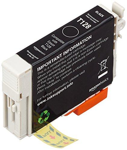 AmazonBasics Cartouche d'encre reconditionnée pour Epson Apple T128 Noir