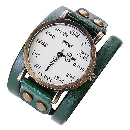 Gysad Reloj de Pulsera Moda Aleación Creativa Matemática Reloj de Pulsera para niñas Reloj de Pulsera Mujer Valentine Mujer Reloj Hermoso y Encantador Reloj de Pulsera Mujer 1 Pieza