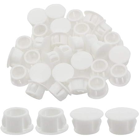 round end cap 90 white plastic end caps plugs 1 pcs