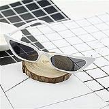 BAYSU Occhiali da Sole Moda Uomo Donna Gatto dell'Annata degli Occhiali da Sole dell'occhio Retro Piccola Pagina UV400 Eyewear di Modo for Il Progettista del Driver di Lusso (Color : White)