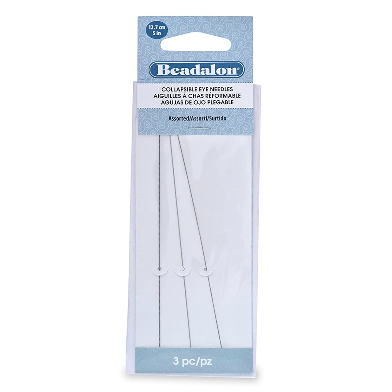 Artistic Wire Beadalon Collapsible Eye Needles Assorted 5-Inch 3 Pieces