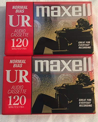 MAXELL UR120 Blank Audio Cassette Tape (2 Pack)